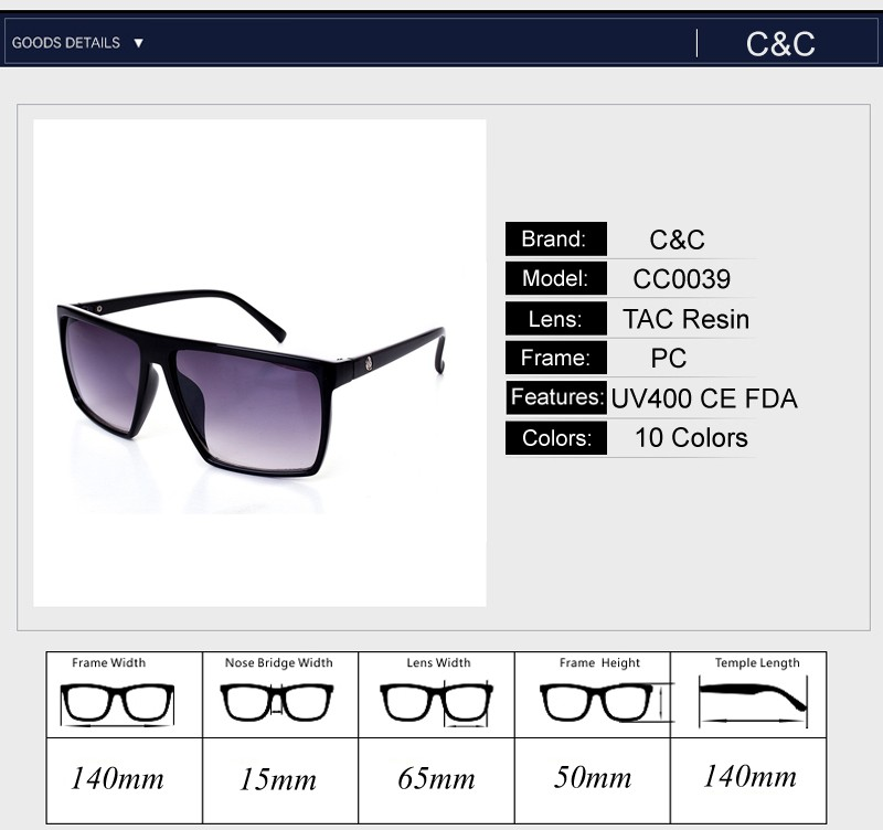 Pro Acme Square Sunglasses Men Brand Designer Mirror Photochromic Oversized Sunglasses Male Sun glasses for Man CC0039 23