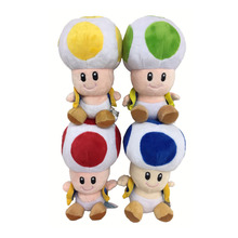 17cm Super Mario Bros Toad Plush Stuffed Dolls Plush Toys 17CM Plush Toys Kids Toy free shipping(China)