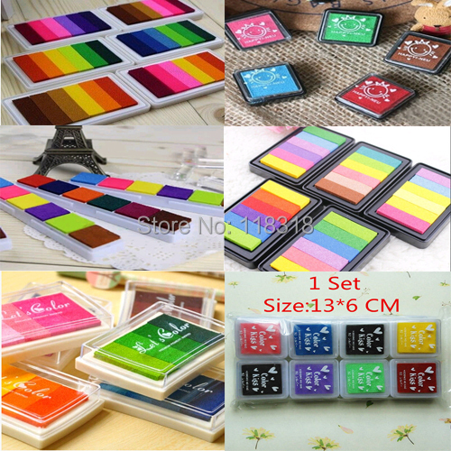 (24 Styles can choose) DIY Scrapbooking Inkpad Seal Wood Stamps ink pad Crafts Sealing Diary Vintage Decoration<br><br>Aliexpress