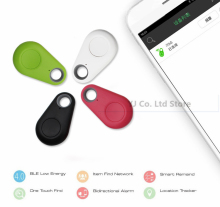 Hot Mini Bluetooth 4.0 GPS Traker Locator Alarm Portable Anti-lost Key Finder Car Key Pet Tracker Two Way Anti-Theft Device(China)