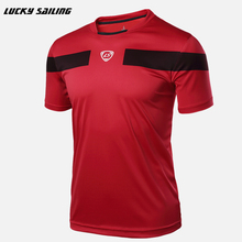 2017 Quick Dry Slim Fit Tees MenT-Shirts Compression soccer jerseys Tops Bodybuilding Fitness O-Neck Short Sleeve T Shirt(China)