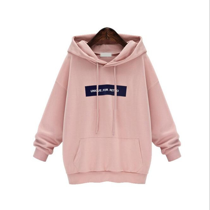 Echoine Autumn Plus Size Hoodies Women Long Sleeve Pullover Hoodie Sweatshirt Gray Pink Casual Hooded Outerwear Sudaderas Mujer(China (Mainland))