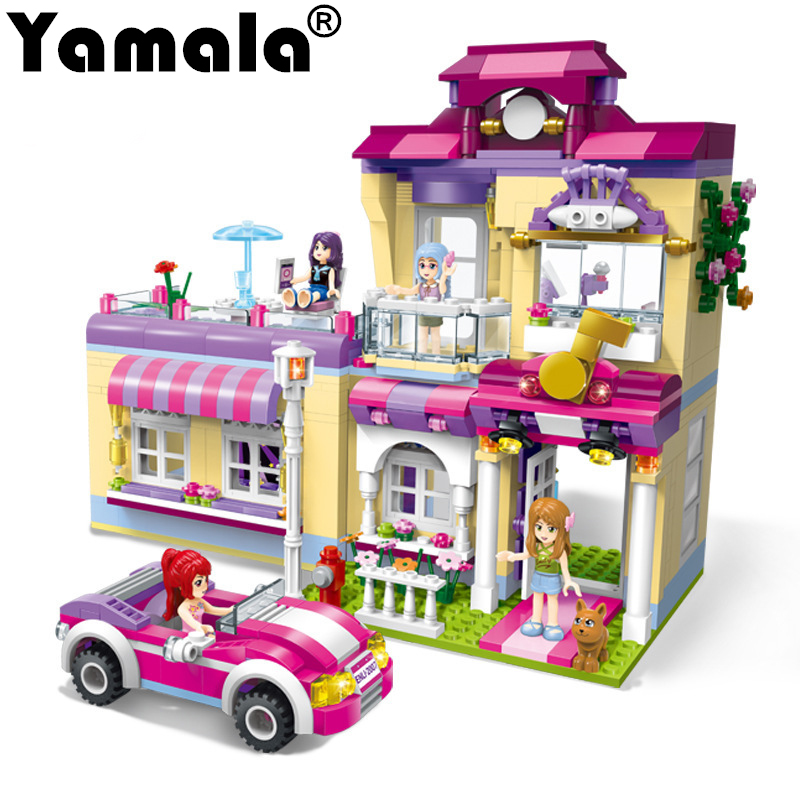 [Yamala] Building Block Girls Friends Shirleys Beauty Star Train Home 485pcs Educational Compatible Legoingly  City Bricks Toys<br>