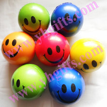 24PCS/LOT,PU soft ball Smile face ball,Baby toys Interactive toys Kids toys,Smash ball,6.3cm,5 color,Free shipping wholesale(China)