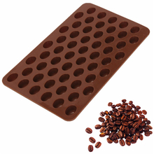 New Arrival High Quality Silicone 55 Cavity Mini Coffee Beans Chocolate Sugar Candy Mold Mould Cake Decor E082