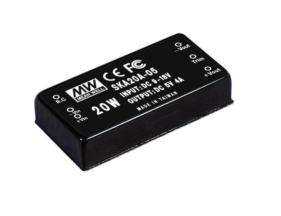 [PowerNex] MEAN WELL original SKA20A-05 5V 4000mA meanwell SKA20 5V 20W DC-DC Regulated Single Output Converter<br>