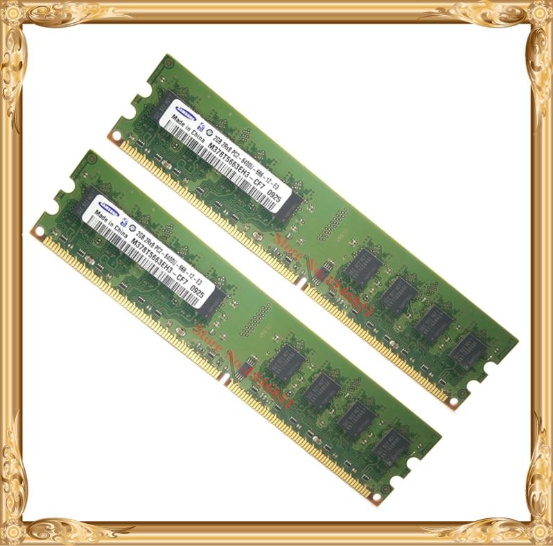 Desktop memory For Samsung 4GB 2x2GB 800MHz PC2-6400U DDR2 PC RAM 800 6400 4G 240-pin Free shipping<br><br>Aliexpress