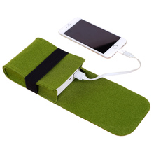 Mini Felt Pouch Charger Storage Bag For Power Bank , Data Cable , Mouse , Electronic Gadgets Travel Accessories Organizer