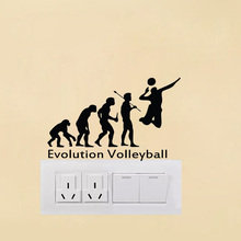 VOLLEYBALL EVOLUTION Vinyl Decal Switch Sticker Removable Home Decoration Wall Stickers A2152