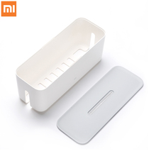 Original Xiaomi Power Strip Socket Plug Storage Box Dust Proof Isulation Perfect Match Cordless Organize Box Container(China)
