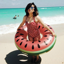 120CM New Lovely Watermelon Adult/Child Thicken PVC Swimming Ring Floating Rings Inflatable Life buoy Pool Infloat Life Buoy