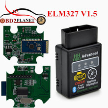 New Arrival With Chip 25K80 Version 1.5 ELM327 HH OBD Advanced MINI HH ELM 327 V1.5 Bluetooth OBD2 Car Auto Scanner Tool