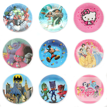10pcs/lot Paper PJ Mask Kids Favor Boys Birthday Party Paper Plate 7inch Printing Round Plates Party Supplies(China)