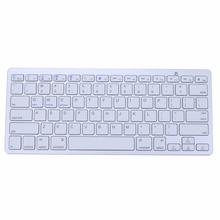 Ultra Slim Bluetooth 3.0 Wireless Keyboard 2.4GHz Game Gaming Mechanical Keyboards for Apple iPad Windows/Android/IOS White