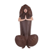 Buy Adult Halloween Costume DIY Deco Men Women Sexy Inflatable WILLY Penis Costumes Dick Jumpsuit Funny Cosplay Dress Party diy