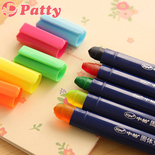 10 pcs/Lot Candy color solid brush Highlighter pen marker pen material escolar school supplies stationery papelaria F259(China)