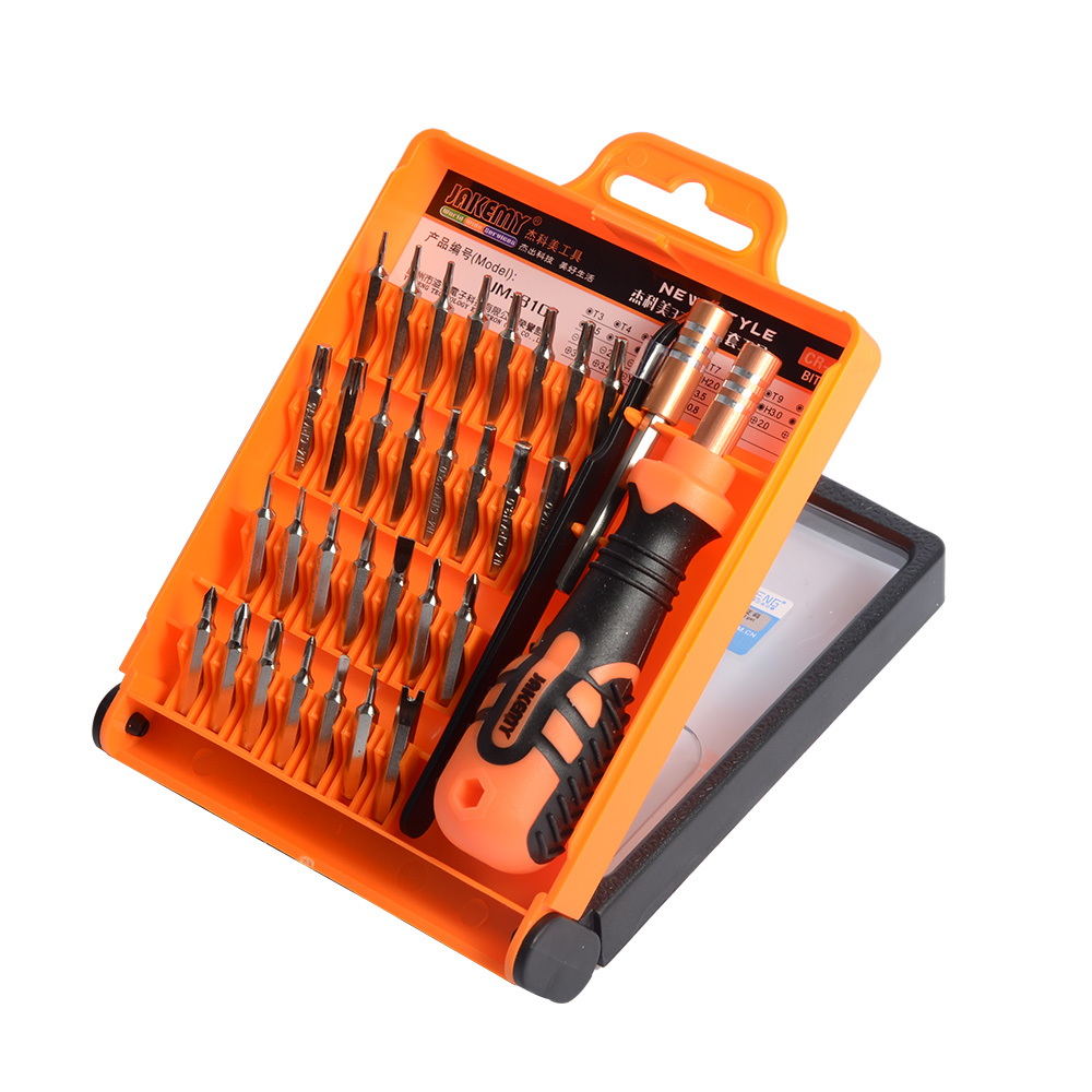 JAKEMY 32 in1 Multifunctional Precision Screwdriver Set For iPhone Laptop Mini Electronic Screwdriver Bits Repair Tools Kit Set
