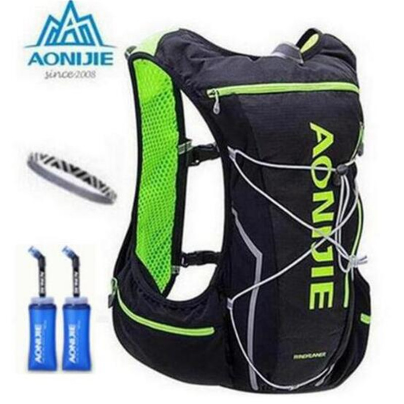 AONIJIE Men Women Nylon 10L Outdoor Bags Hiking Backpack Vest Professional Marathon Running Cycling Backpack Bag<br>