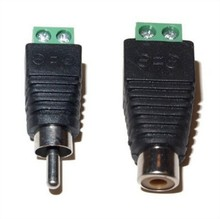 10Pairs CAT5 To Camera CCTV Video Balun RCA female+male jack AV Screw Terminal Connector, RCA MF to terminal Block