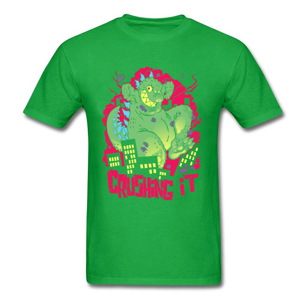 crushing it 11167 100% Cotton Tees for Men Printing T-shirts Customized Cheap Round Collar Tee Shirts Short Sleeve crushing it 11167 green