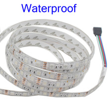 smd RGB led strip light 5m DC 12V 5050 60leds/m flexible smd led light led tape ribbon no waterproof or waterproof 5m/roll strip
