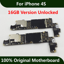 For iPhone 4S Motherboard 16GB 100% Original Unlocked Mainboard Good Working With Full Chips IOS Installed Logic Board