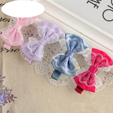 New Baby Hairpin Cute Lace Bowknot Hair Clips Baby Girl Hairpin Child Hair Accessories Free Shipping Hot Selling Wholesale