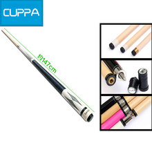 High Quality Cuppa 1/2 Pool Cues Stick Billiard 10.5mm Tip Maple Shaft Four Colors Billiards Cue China