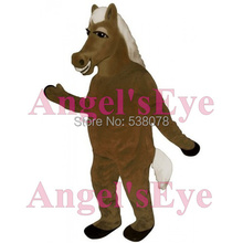 Anime Cosplay Costume brown horse Mascot pony mustang Costume Adult Cartoon Character Mascotte Fancy Dress Suit Kits sw2172