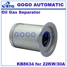 High quality Oil Gas Separator KB8634 for 22KW/30A Screw air compressor 10-50HP Universal oil core air compressor(China)