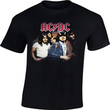 Men's Fashion Modern T-shirts ACDC Rock Metal Band T-Shirt 100% Heavy Cotton Short SleeveTee Round Neck Euro Size S-3XL(China)