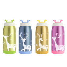 Cute Deer Design Stainless Steel Thermo Mug Thermos Vacuum Thermos Flasks Water Bottles Travel Mug Termo Cup Garrafa Termica