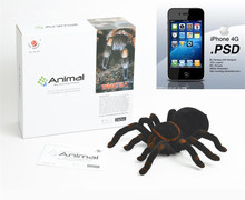 12pcs Newest Iphone Ipad ios android Electric Remote Control Robot tarantula spider Luminous eyes Advanced fun Trick Animal Toys(China)