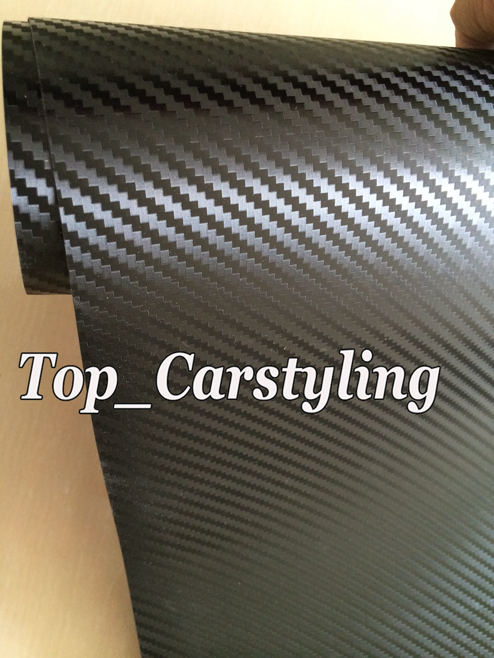 3D Big texture carbon fibre vinyl car wrapping film with air bubble free (3)