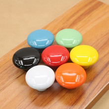 seven full colour ceramic furniture knobs white black blue yellow  orange red orange drawer cabinet knobs pulls handles