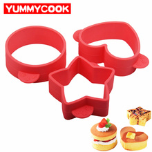 3Pcs/Set Fluffy Small Cake Mould Silicone Baking Pastry Tool Bakeware Fried Egg Cookie Mold Kitchen Gadgets Accessories Supplies(China)