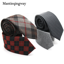 Mantieqingway Striped Men's Tie Cravats Brand Popular Suede Mens Formal Ties Classic Male Business Suits Tie Neckties Wedding(China)