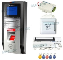 Bio Door Fingerprint and RFID Card Door Access Control System & Time Attendance Kits+Magnetic lock(China)