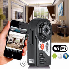 smallest hidden Wifi Camera Q7 Cam Upgrade 720P HD Mini DV Wireless IP Camera Espia Video With IR LED Remote by Phone