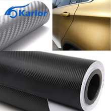 50cm wide 3D Carbon Fiber Vinyl Film 3M Car Stickers Waterproof DIY Auto Vehicle Motorcycle Car Styling Wrap Roll Car Styling