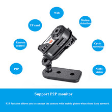 pocket hidden Wifi Camera Q7 Cam Upgrade 720P HD Mini DV Wireless IP Camera Espia Video With IR LED Remote by Phone