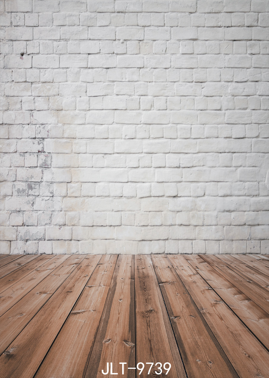White brick wall wood floor photography background 150X210cm Fond studio photo vinyle  Photography-studio-backdrop<br><br>Aliexpress