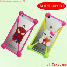 latest fashion Cute Cartoon Silicone Universal Cell Phone Holster Cases For iphone 3/3G/3GS Case cartoon animal Series Case