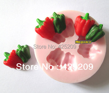 3D pepper mold soap,fondant candle molds,sugar craft tools,Soap silicone,chocolate mold , silicone molds for cakes,form for soap(China)