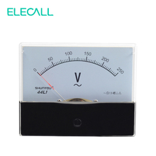 ELECALL 44L1 250V Plastic Housing Analog Panel Meter AC 0-250V Volt Meter Class 1.5 Accuracy(China)