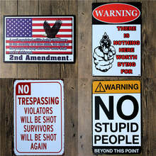 Pistol Humor Funny Literal American Tin Signs Cafe Wall Sign Art Beer Signs Vintage Art Prints 20*30 cm