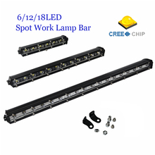 High Power 7/ 13/ 19 inch CREE Chips Spot LED Head Light Bar For Truck Trailer Offroad Driving Work Lamp For ATV TV Car 4WD Jeep