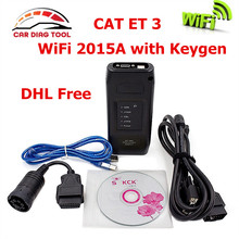 Latest CAT ET III CAT 3 WiFi Communication Adapter III 3 P/N 317-7485 CAT3 Heavy Duty Diagnostic Scanner 2015A With ET Keygen