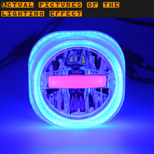 WUPP Square Jellyfish LED Lens Headlight DC 12V 24V Bright Motorcycle LED Headlight 20W 10W Universal Headlight Blue Small Red(China)