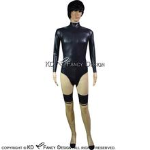 Buy Black Transparent Sexy Latex Catsuit Back Crotch Zipper Rubber Bodysuit Zentai Overall Body Suit LTY-0087